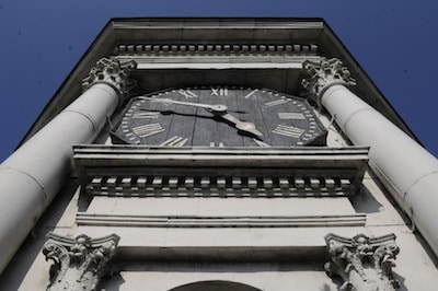 East Clock Tower Face of the Old Court House Museum